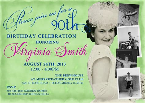 90th Birthday Invitation Templates Cloudinvitation Com 90th Birthday Invitations Templates Free