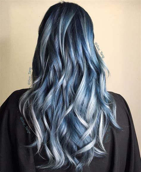silver blue color the 25 best silver blue hair ideas on smokey