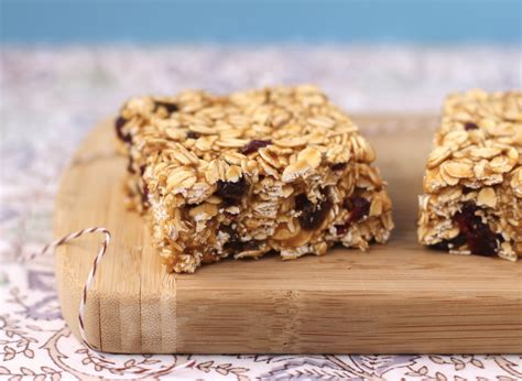 healthy peanut butter  jelly granola squares gluten