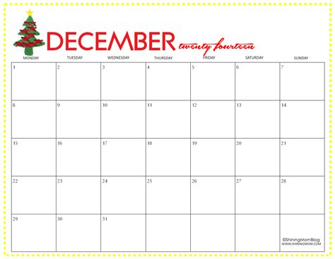 december calendar template free printable december 2014 calendar by shining