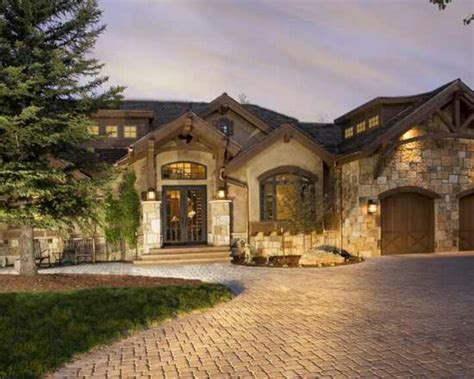 stone and wood homes stucco colors wood beams stone exteriors pinterest