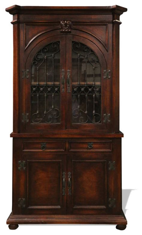 old world armoire old world spanish elena armchair mahogany stain