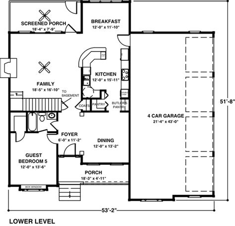 garage house floor plans 4 car garage house plans craftsman house plan 92351 3