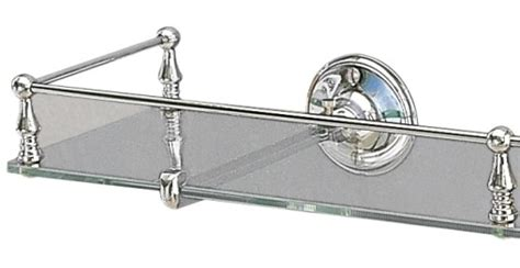 Glass Bathroom Shelves With Guard Miller Stockholm 602c Clear Glass Shelf With Guard Rail