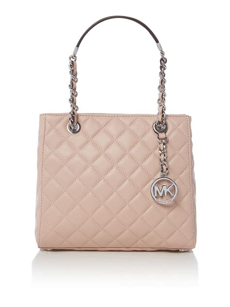 Michael Kors Quilted Handbags by Michael Kors Susannah Pink Quilted Tote Bag In Pink Lyst