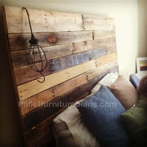 headboard from pallets 4 headboards made from wooden pallets pallet furniture plans