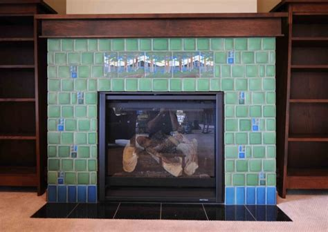 Motawi Fireplace by Motawi Fireplace With Pine Landscape Series And Blue