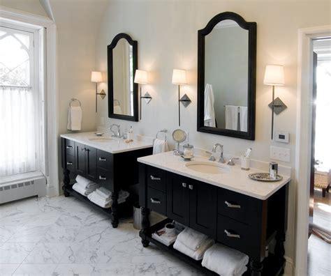 seattle double vanity bathroom farmhouse with circle