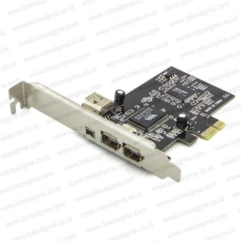 Pci E Card Firewire Ieee1394a Chipset Via With Cable pci e card firewire ieee1394a chipset via with cable