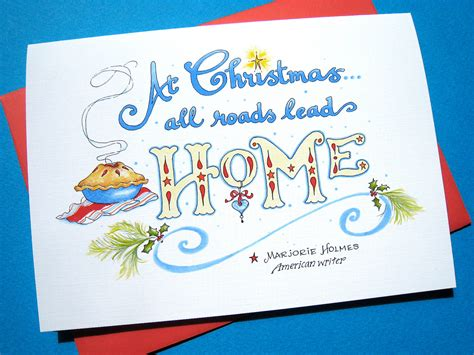 card from home quote card home card happy holidays