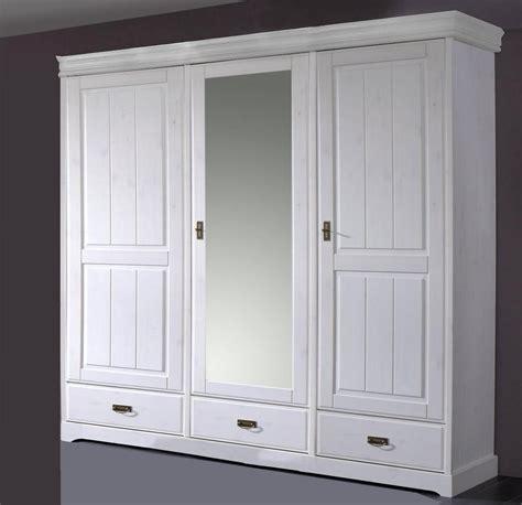 kleiderschrank weiss 3 türig mit spiegel landhaus kleiderschrank mit spiegel wei 223 gewachst kiefer