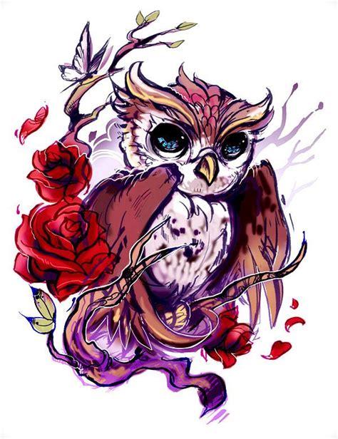 tattoo flash owl beautiful impressionist owl tattoo flash i would replace