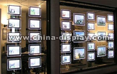 hanging light box display led window display board hanging advertising light box