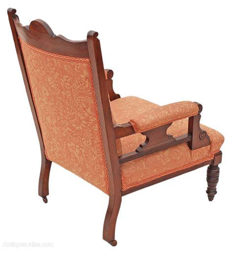 edwardian armchair victorian edwardian gents carved walnut armchair