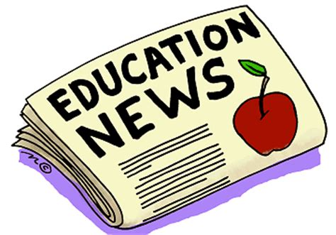 education newspaper (in color)   Clip Art Gallery