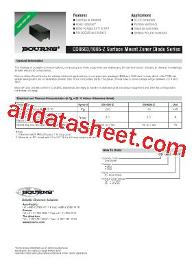 diod z12 cd1005 z12 datasheet pdf bourns electronic solutions