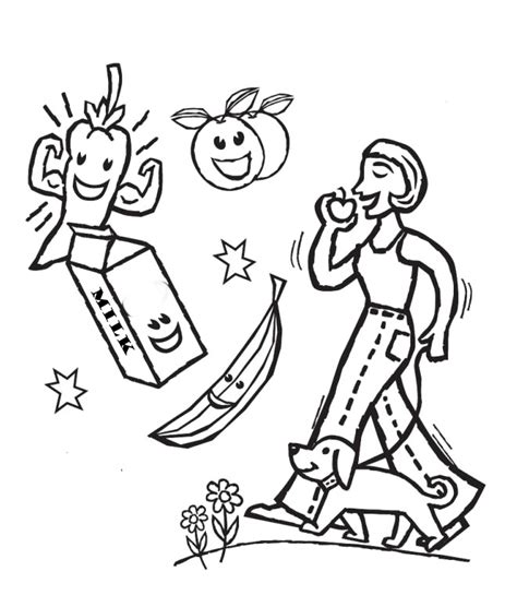healthy coloring pages az coloring pages