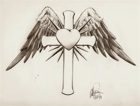 winged cross tattoos winged cross with design