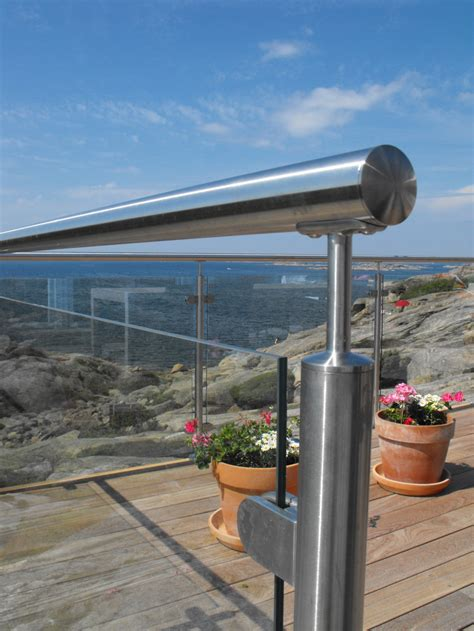 Outdoor Banister by Outdoor Banister Glass Fencing Stainless Steel Rail Glass Clip
