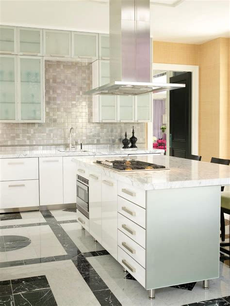 stainless steel backsplash contemporary kitchen beautiful pictures of kitchen islands hgtv s favorite