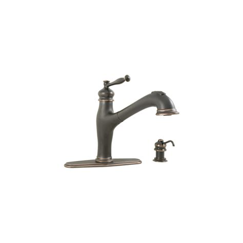 aquasource kitchen faucets shop aquasource rubbed bronze pull out kitchen faucet