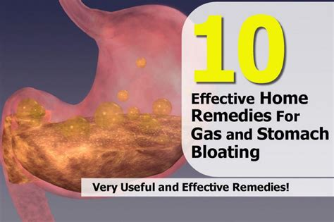 10 effective home remedies for gas and stomach bloating