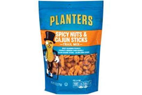Planters Sesame Nut Mix by Planters Spicy Nuts Cajun Sticks Trail Mix 6 Oz Kraft
