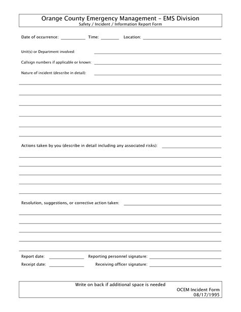 blank incident report form template best photos of blank copy report blank