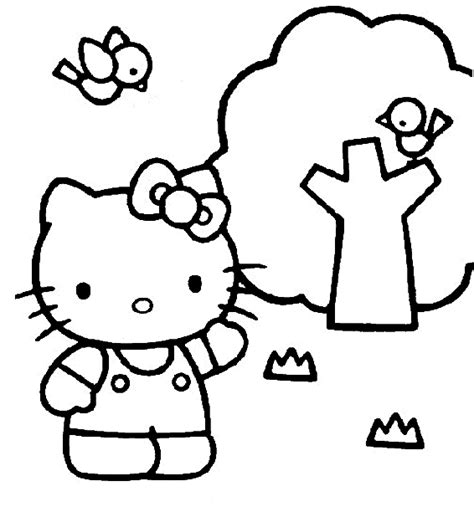 hello kitty coloring page color hello kitty all kids