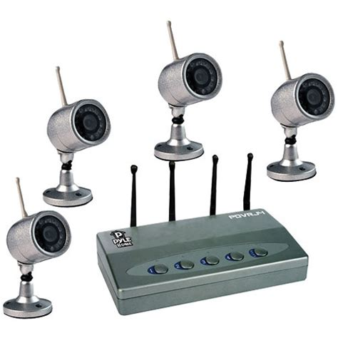 pyle home wireless 4 color surveillance kit pdvrj4 b h