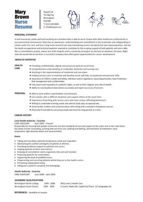 Nursing Resume And Cv Curriculum Vitae Curriculum Vitae In Nursing