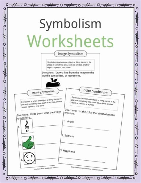new teaching symbolism in literature worksheets goodsnyc