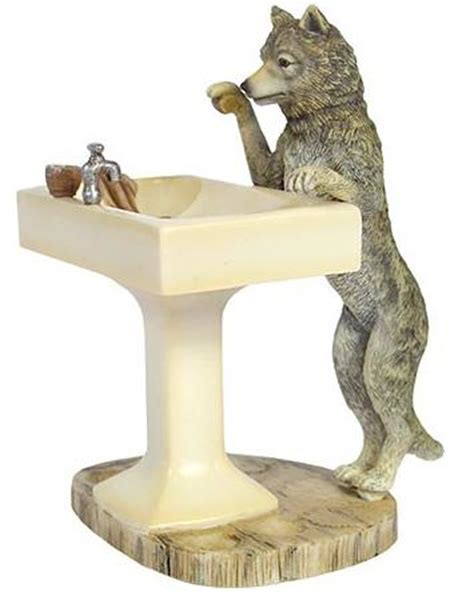 Wolf Bathroom Accessories Wolf Bathroom Accessories Hautman Brothers Howling Wolf 3 Bath Accessories Qvc Howling Wolf