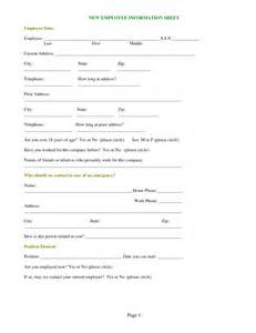 New Employee Information Template by Best Photos Of New Employee Form Template Employee New