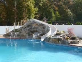 waterfalls for inground pools custom rock waterfall slides ls waterfalls
