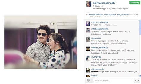 membuat instagram official foto aw prilly sebut aliando honey sudah jadian