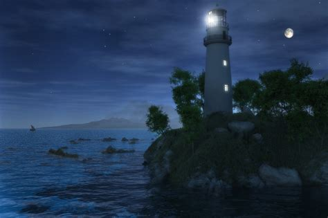 light house at night pin lighthouse at night on pinterest