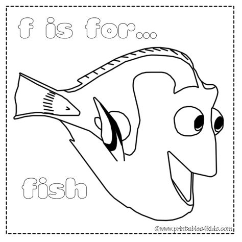 F Fish Coloring Page by F Is For Fish Coloring Page Coloring Pages
