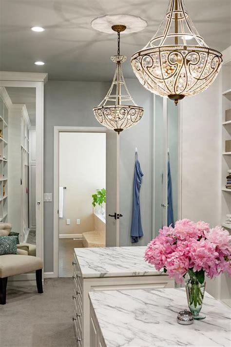 Chandelier In Closet Walk In Closet Design Ideas