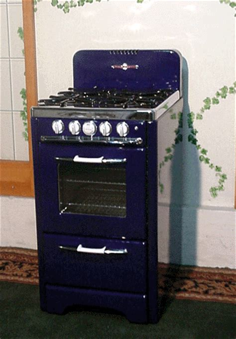 Small Apartment Size Gas Stove Customized Cobalt Blue O Keefe Merritt Apt Size Stove