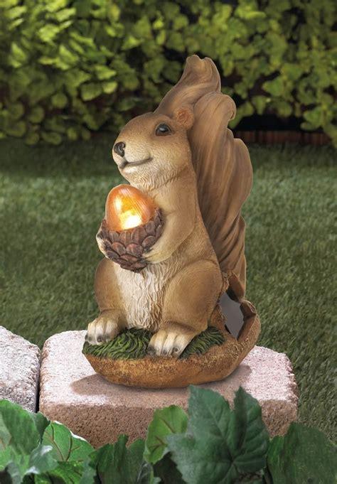 Squirrel Solar Light Squirrel Solar Garden Statue Acorn Light