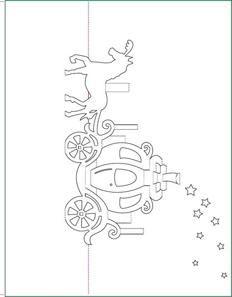 Free Printable Pop Up Card Templates walt disney cinderella carriage pop up card free paper craft template