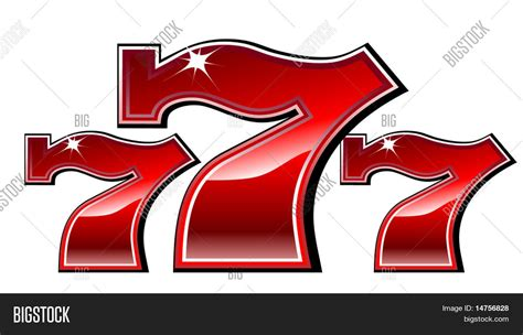 lucky seven slot machine font vector illustration stock