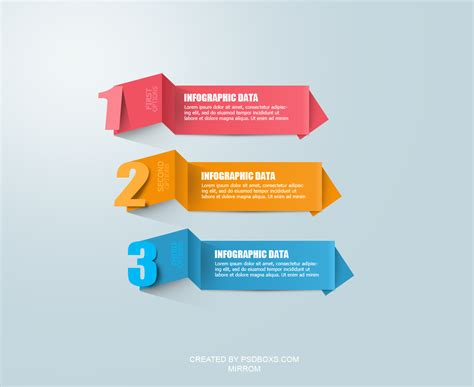 design graphics free download free psd modern infographic origami by muhiza on deviantart