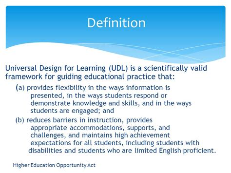 Definition Universal Design For Learning | universal design for learning ppt video online download