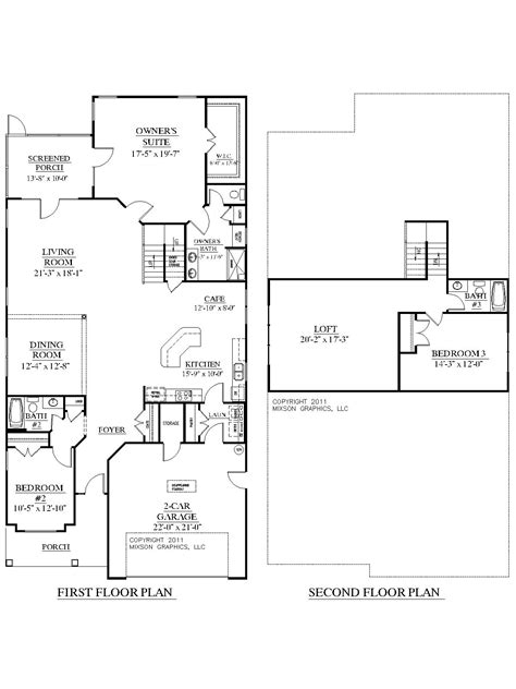 Master Bedroom Upstairs Floor Plans by Southern Heritage Home Designs House Plan 2755 B The