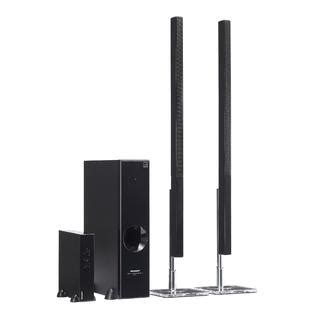 Home Theater Sharp Ht Cn312dvw sharp 2 1 channel sound bar home theater system ht sl77u