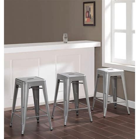 tabouret 24 inch metal counter stools set of 3