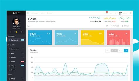 bootstrap templates for event management 26 best free html5 bootstrap admin dashboard templates