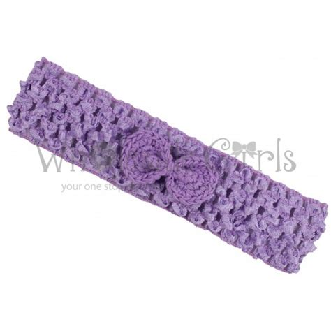 crochet baby headband with lace bow and by allbabygirls lavender crochet headband with tiny bow crochet baby